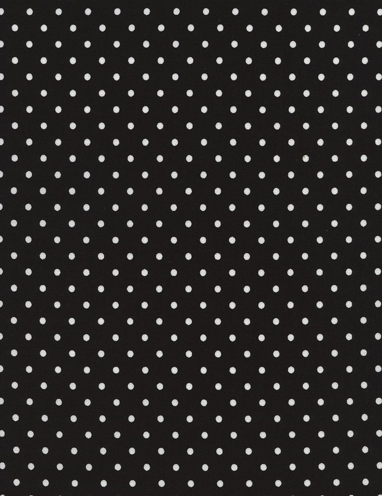 Polka Dot Flannel CF 1820 Black