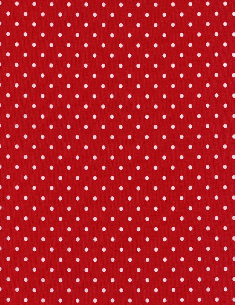 Polka Dot Flannel CF 1820 Red