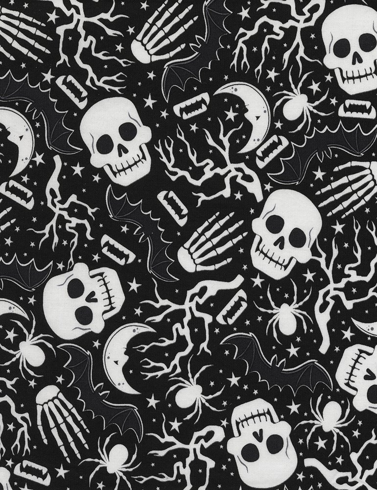 Wicked Night Glow Skulls & Spiders