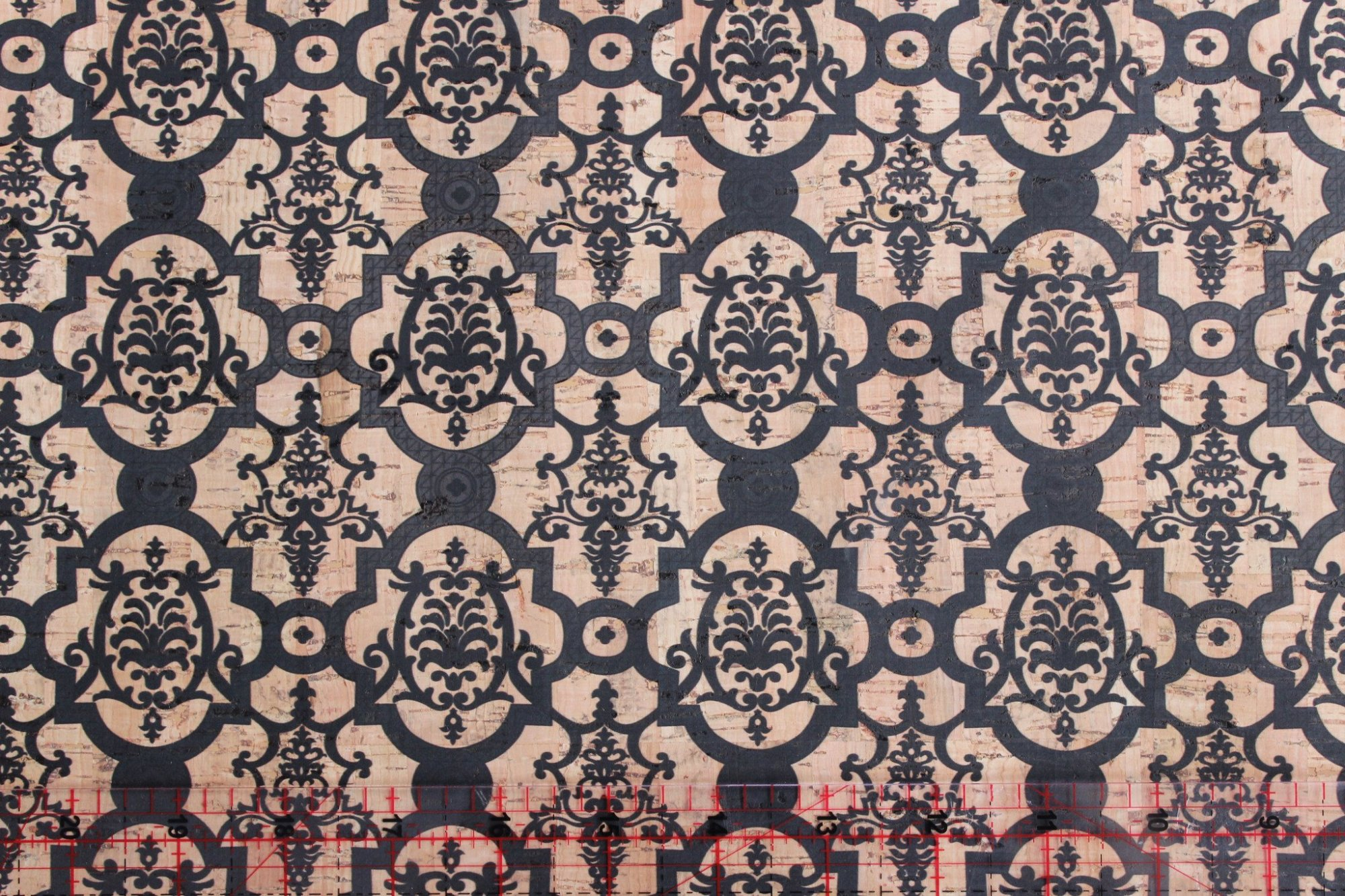 Printed Turtle Damask Cork Fabric (36x36)