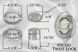 5/8 Silver Purse Twist Lock Closure