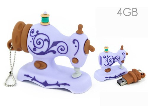 USB 4GB Lilac Sewing Machine