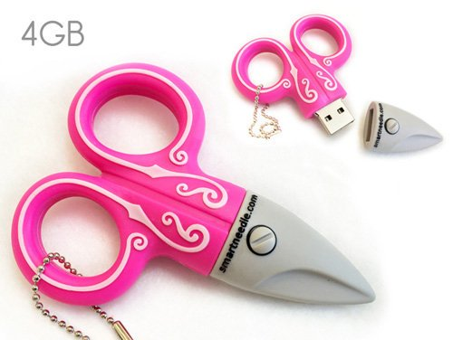 USB 4GB Pink Scissors
