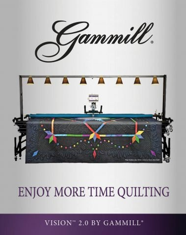Vision 2.0 Hand-Guided Quilting System Gammill Brochure