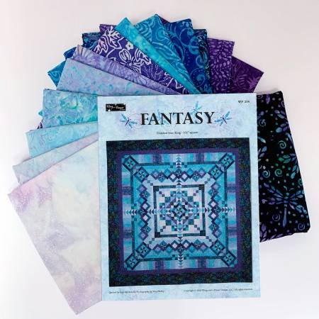 Fantasy Block of the Month - Tonga Timeless Treasures