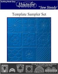 Westalee by Sew Steady - Sampler Template Set 6pc - Longarm Foot