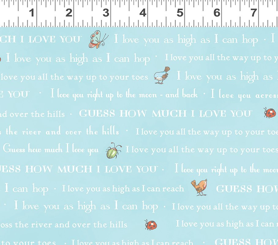 Guess How Much I Love You III by Anita Jeram Light Aqua Words