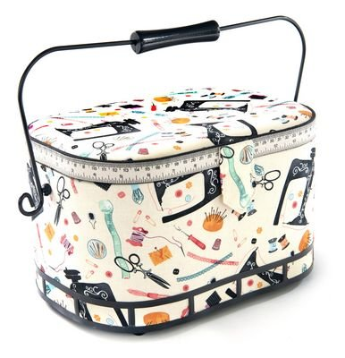 Sewing Basket Large Oval - 12 x 6 3/8 x 7 1/8