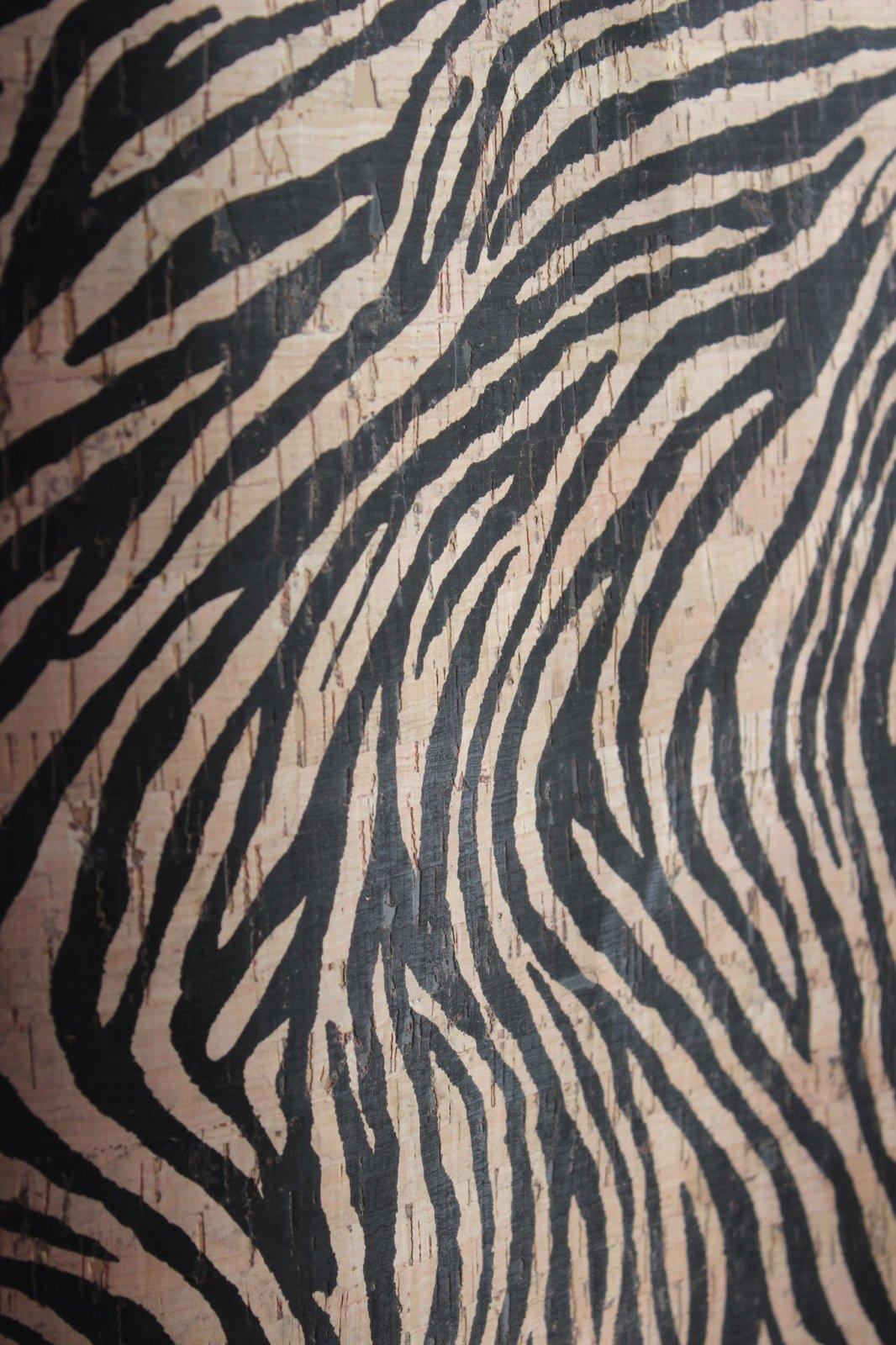 Printed Zebra Cork Fabric (36x36)