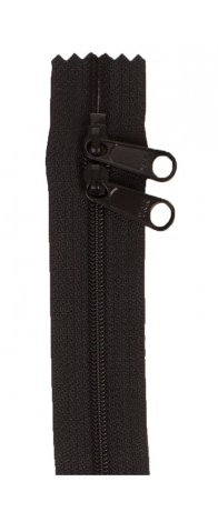 30 Double Slide Zipper Black