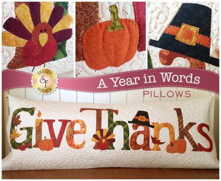 A Year In Words Give Thanks Pillow