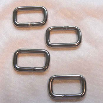 StudioKat Nickel Rectangular Links 1 Wide  -SKD #1001RLN