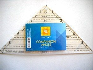 EZ Quilting Companion Angle Triangle Ruler - Ruler Designed by Darlene Zimmerman