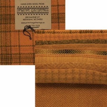 Primitive Gatherings Hand Dyed Wool Squash PRI-6020