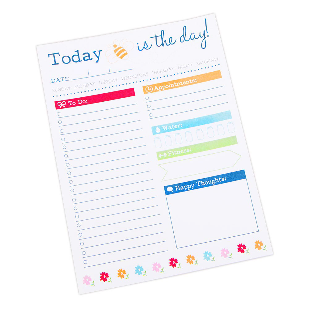 Bee in My Bonnet - Today Is The Day Notepad by Lori Holt - Made in USA