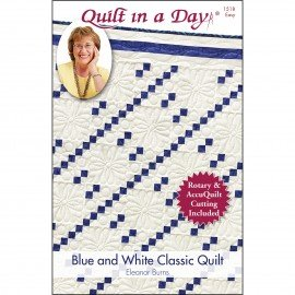 Blue and White Classic Quilt for Rotary and Accqlt