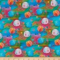 3 Wishes Fabric Good Kitty Yarn 3WI16544-MLT-CTN-D