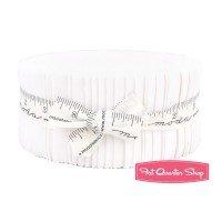 Moda Bella Solids Jelly Roll� White 9900JR 98