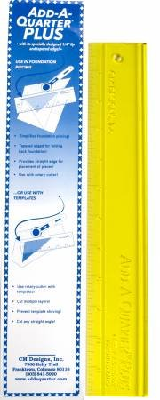 Add-A-Quarter Ruler PLUS 12 - Perfect for Paper Piecing - Made in USA