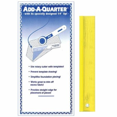 Add-A-Quarter Ruler 6 - Perfect for Paper Piecing - Made in USA