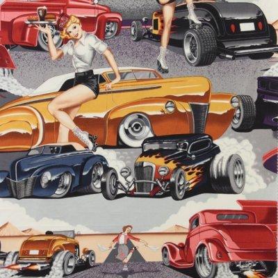 Alexander Henry Fabrics Phil's Drive-in Vintage 6767BRRR