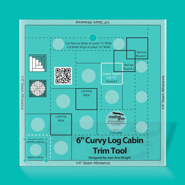 Creative Grids Non-Slip CGRJAW6 - 6 Curvy Log Cabin Trim Tool