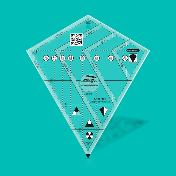 Creative Grids Non-Slip CGRKC1 - Kites Plus Ruler