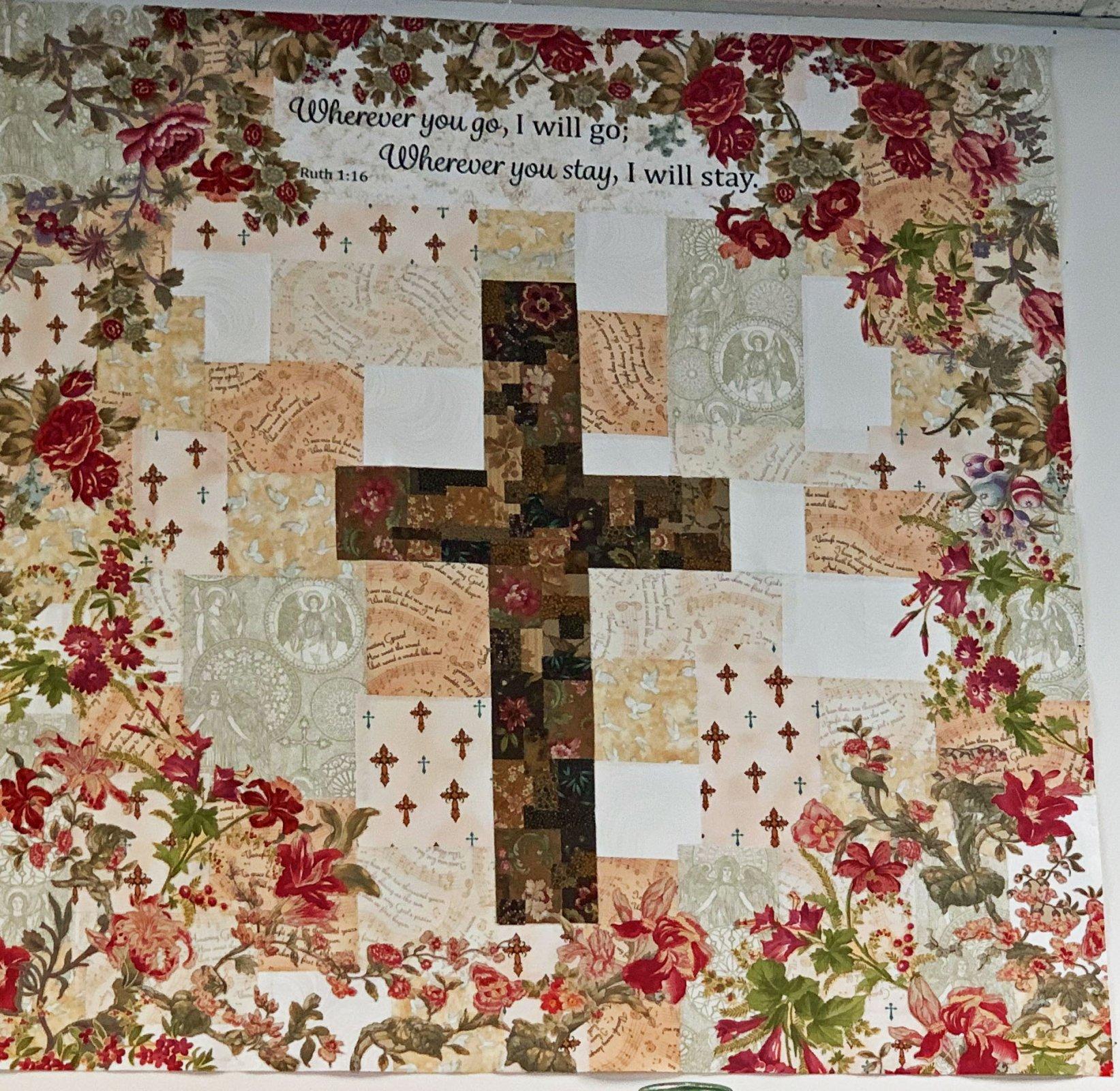 Handmade Sewciety - The Cross Collage Pattern 45 x 45