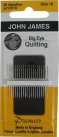 John James Big Eye Quilting Needles JJ12510 Size 10 - 12 Count Package