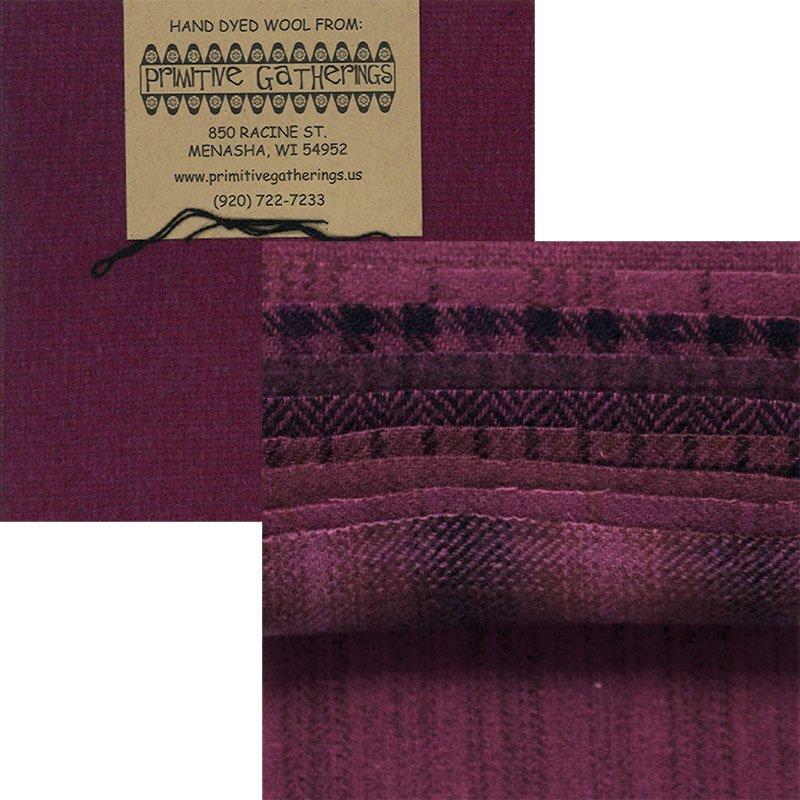 Primitive Gatherings Hand Dyed Wool Red Grape PRI-6017