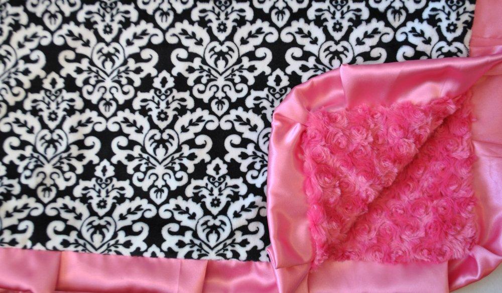 Damask Black-Hot Pink-Hot Pink