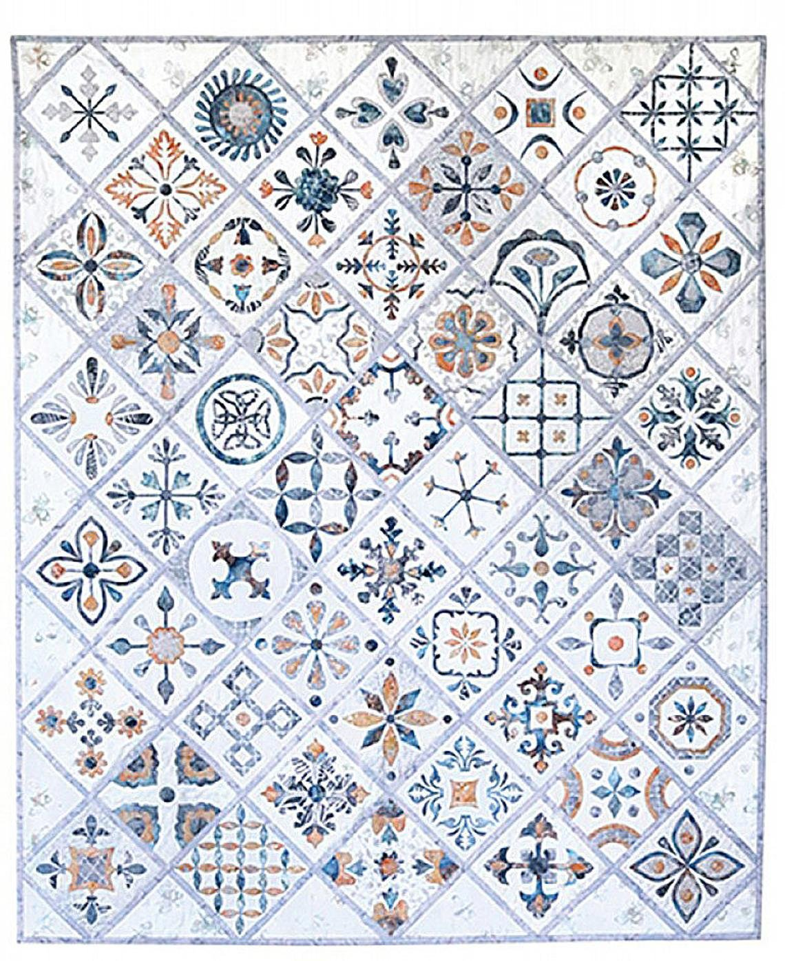 Hoffman Metro Tiles Quilt As You Go Kit by Susan Claire Mayfield 50 Blocks in all