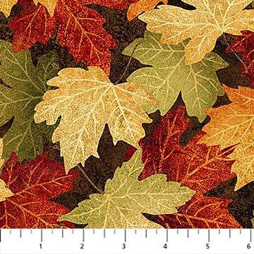 Stonehenge Maplewood Brown Multi Leaves