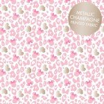 Pink Minnie Mouse Leopard Print W/metallic