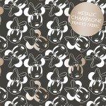 Carbon Minnie Mouse Face Outline W/metallic