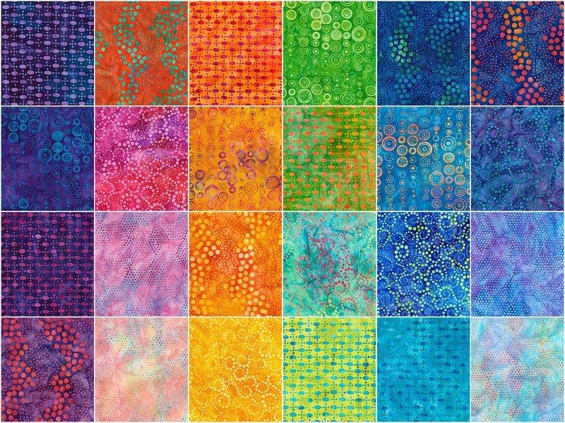 42 pc PrecutsTen Squares:10 Artisan Batiks: Round and Around