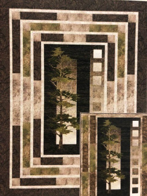 Majestic Pines Fabric Quilt Kit Northcott Fabric's