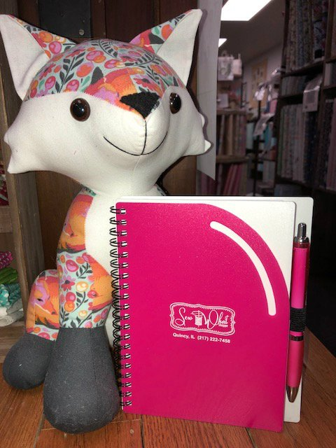 Sew What Shoppe Curvy Notebook w/ Pen