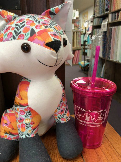 Sew What Shoppe 16oz Tumbler w/ Straw