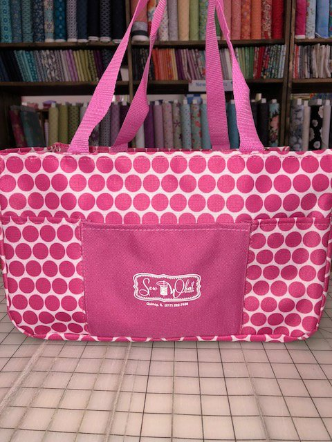 Sew What Shoppe Pink Dot Tote