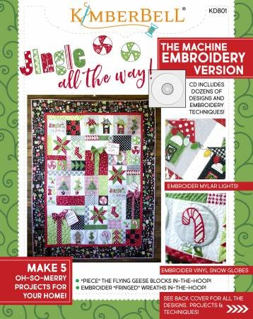 Kimberbell Jingle All the Way! Machine Embroidery CD & Sewing Book