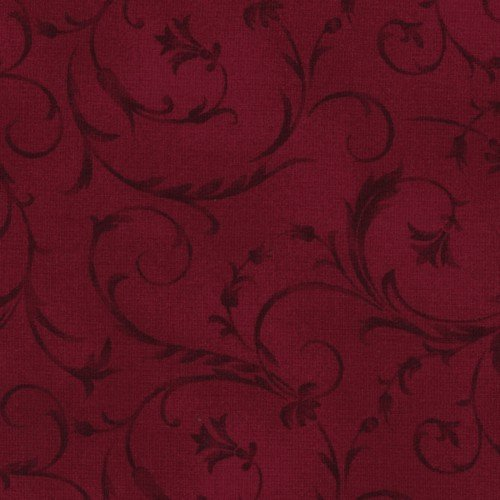 108 Beautiful Wide Backing Deep Red