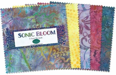 5in Squares Batik Jewels Sonic Bloom 24pcs
