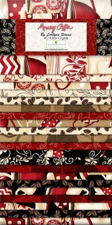 2-1/2in Strips Morning Coffee 40pcs Jelly Roll
