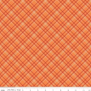 Backing 107/108 Wide Plaid Orange
