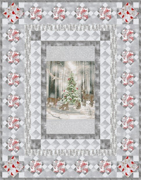 Snow Fall Winter White Quilt Kit