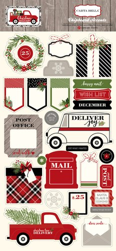 Christmas Delivery Chipboard Sticker