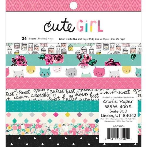 Cute Girl 6x6 Paper Pads