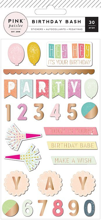Birthday Bash Epoxy Stickers