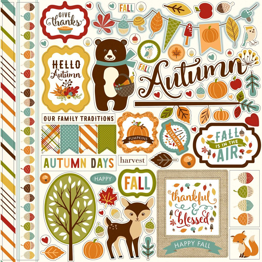 Fall is in the Air Element Stickers